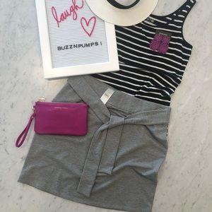 Loft grey mini skirt